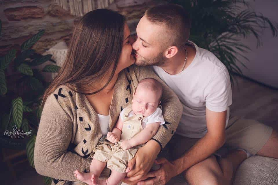 Marcel Samol z rodzicami