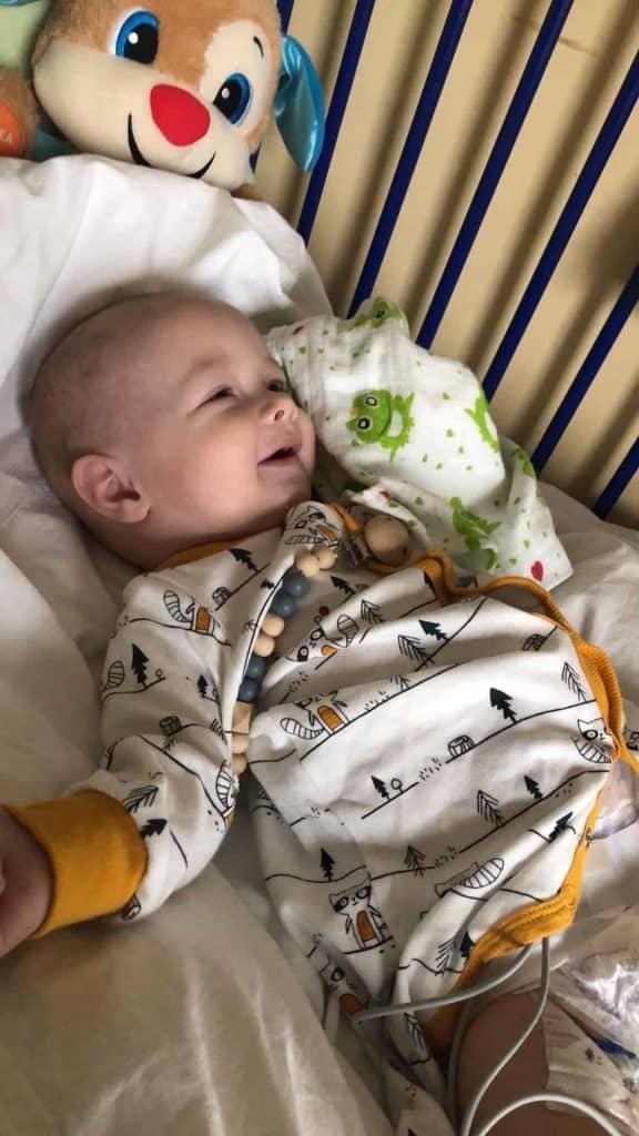Marcel Samol w szpitalu