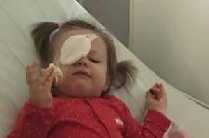 dziecko walczy o wzrok